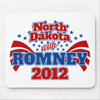 North Dakota with Romney 2012 Mouse Pad