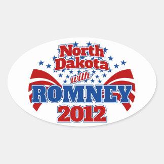 North Dakota with Romney 2012 Stickers