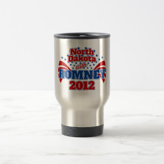 North Dakota with Romney 2012 Travel Mug