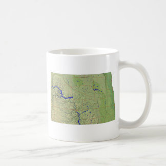North Dakotan Flag + Map Mug