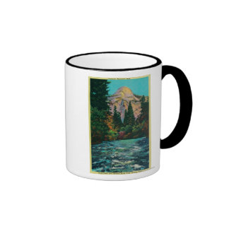 North Dome and Merced River from Happy Isles Mug