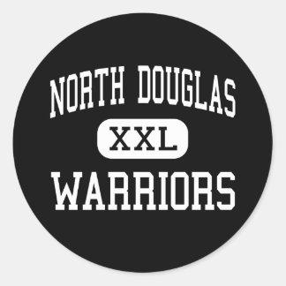 North Douglas - Warriors - High - Drain Oregon Round Stickers