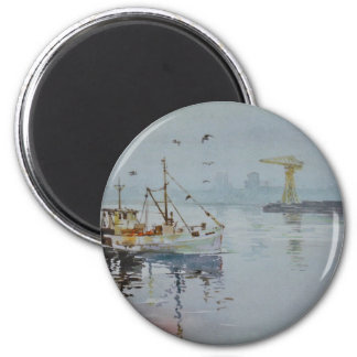 North East England Fishing Boat Magnet