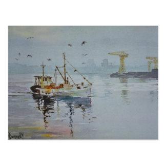 North East England Fishing Boat Postcard