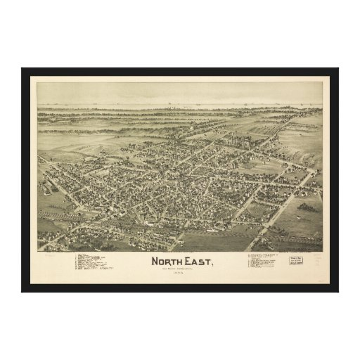 North East Erie County Pennsylvania (1896) Canvas Print