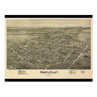 North East Erie County Pennsylvania (1896) Postcard