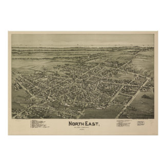 North East Erie County Pennsylvania (1896) Poster
