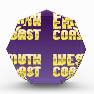 North East South West Coast golden letters Award