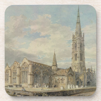North-east View of Grantham Church, Lincolnshire, Drink Coaster