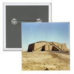 North-eastern facade of the ziggurat, c.2100 BC 2 Inch Square Button