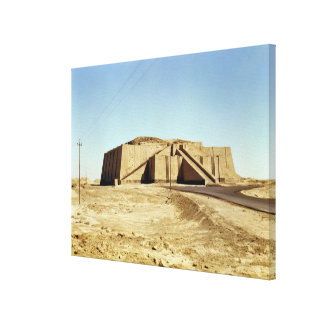 North-eastern facade of the ziggurat, c.2100 BC Canvas Print