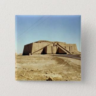 North-eastern facade of the ziggurat, c.2100 BC Pinback Button