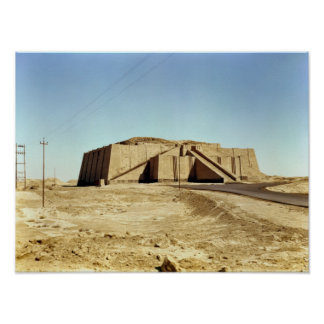 North-eastern facade of the ziggurat, c.2100 BC Posters