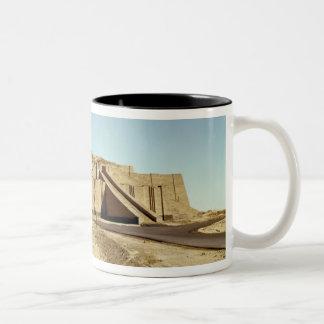 North-eastern facade of the ziggurat, c.2100 BC Two-Tone Coffee Mug