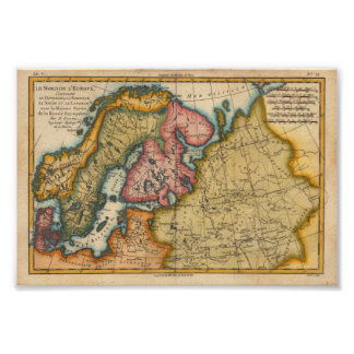 North Europe Bonne, M. 1760 Reproduction Poster