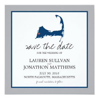 North Falmouth Cape Cod Wedding Save the Date Card
