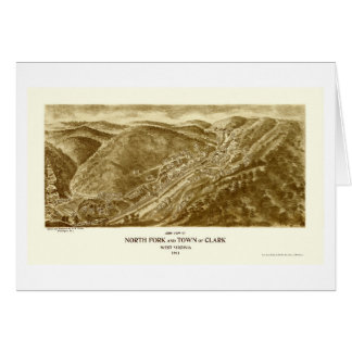 North Fork and Clark, WV Panoramic Map - 1911 Card