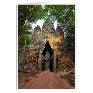 North Gate of Angkor Thom, Cambodia Card
