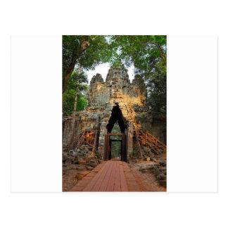 North Gate of Angkor Thom, Cambodia Postcard