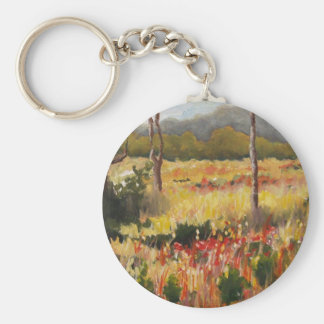 North Georgia Basic Round Button Keychain