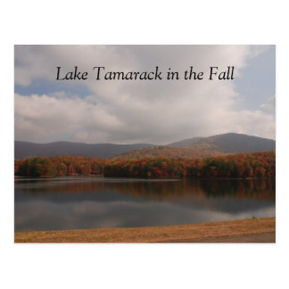 North Georgia Mountains, Lake Tamarack in the Fall Postcard