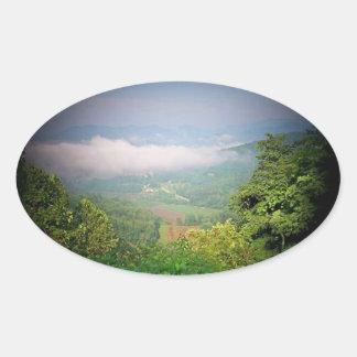 North Georgia Mountains, USA Oval Sticker