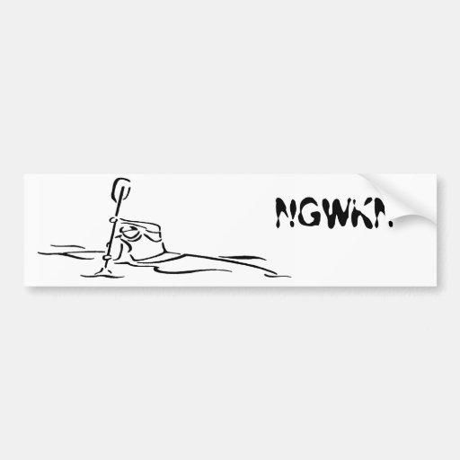 North Georgia Whitewater Kayak Network Car Bumper Sticker