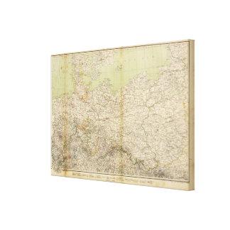 North Germany Atlas Map Canvas Print