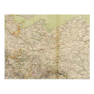 North Germany Atlas Map Postcard