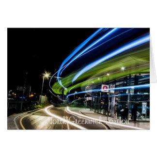 North Greenwich Bus Station at Night(London) Greeting Card