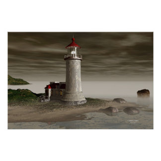 North Head Lighthouse - Ansel's Evening Poster