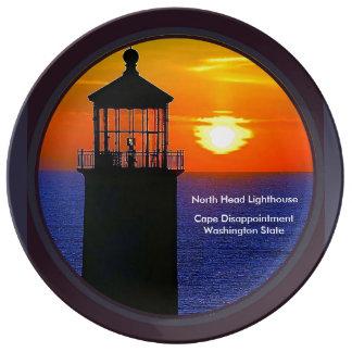 North Head Lighthouse, Ilwaco, Washington Porcelain Plate