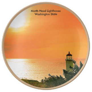 North Head Lighthouse,Washington Porcelain Plate