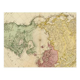 North Hemisphere map Postcard