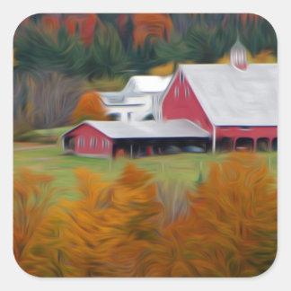 North Hollow Farm, Vermont Square Sticker