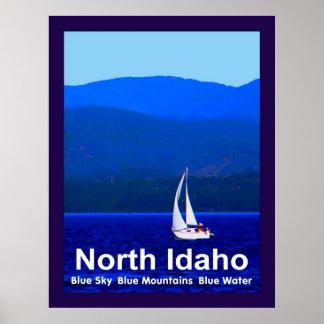 North Idaho Blue Mountains And Sailboat Poster