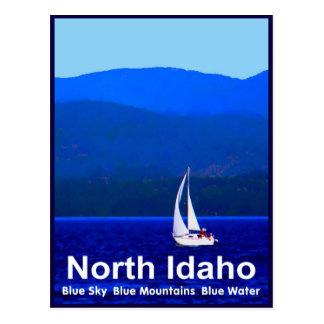 North Idaho Blue Postcard
