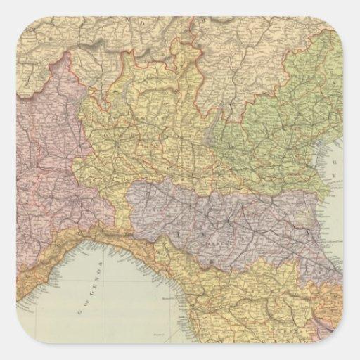 North Italy 2 Square Sticker