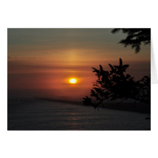 North Jetty at sunset Stationery Note Card