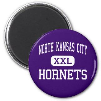 North Kansas City - Hornets - North Kansas City 2 Inch Round Magnet