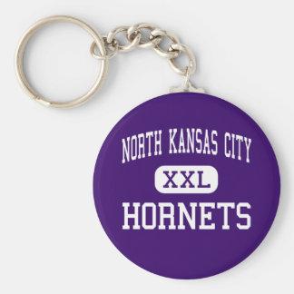 North Kansas City - Hornets - North Kansas City Basic Round Button Keychain