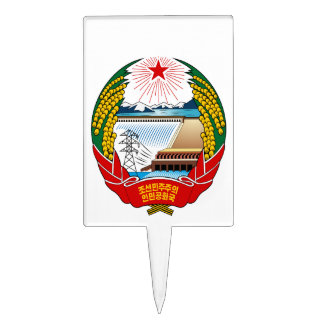 North Korea Coat Of Arms Rectangle Cake Topper