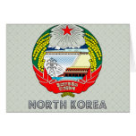 North Korea Coat of Arms Cards