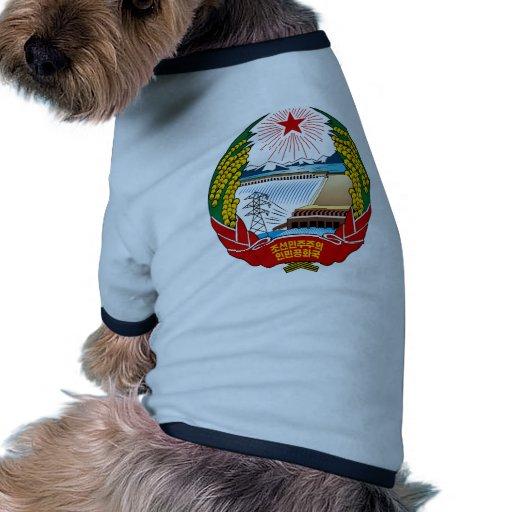 North Korea Coat Of Arms Doggie Tee Shirt