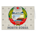 North Korea Coat of Arms Greeting Card
