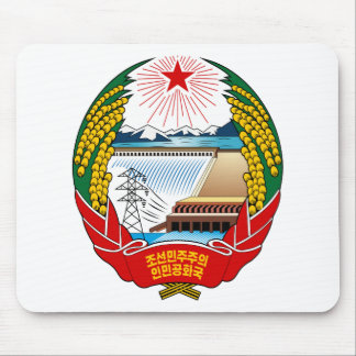 North Korea Coat Of Arms Mouse Pad