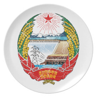 North Korea Coat Of Arms Plate
