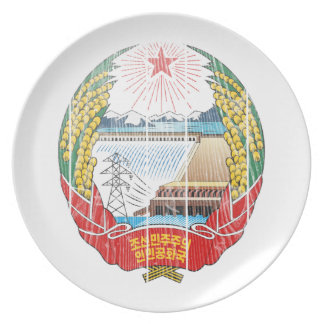 North Korea Coat Of Arms Party Plate