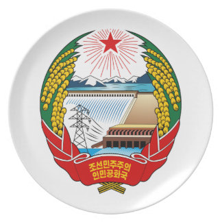 North Korea Coat Of Arms Dinner Plate