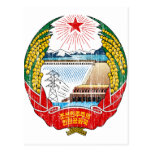 North Korea Coat Of Arms Postcards